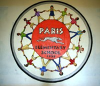 Paris Elementary School mural